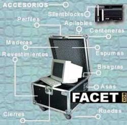 Flight case a medida accesorios (ejemplo equipo informático)