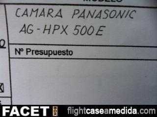 Plano cámara Panasonic AG HPX 500 E