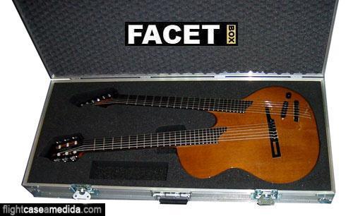 Flight case a medida para guitarra de doble mástil